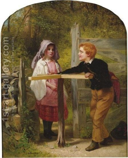 Pay Toll by John George Brown - Reproduction Oil Painting
