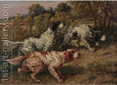 Stalking Setters by Edmund Henry Osthaus - Reproduction Oil Painting