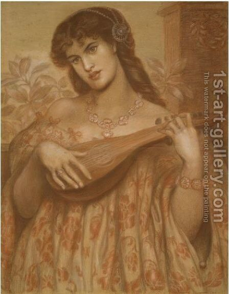 La Mandolinata by Dante Gabriel Rossetti - Reproduction Oil Painting