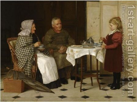 Tea Time by James Hayllar - Reproduction Oil Painting