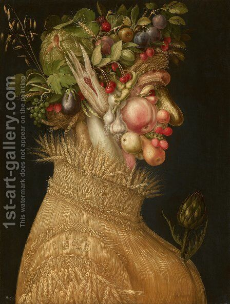 Summer 1563 by Giuseppe Arcimboldo - Reproduction Oil Painting