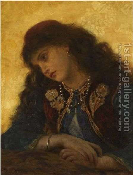 A Greek Girl by Sophie Gengembre Anderson - Reproduction Oil Painting