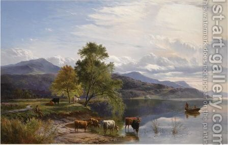 A Lakeland Scene by Sidney Richard Percy - Reproduction Oil Painting
