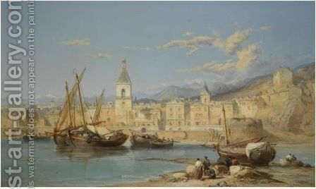Carthagena Bay by James Webb - Reproduction Oil Painting
