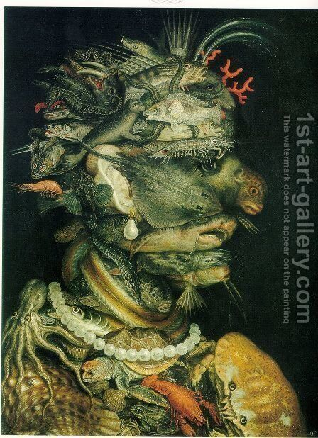 The Water The Water 1563-64 by Giuseppe Arcimboldo - Reproduction Oil Painting