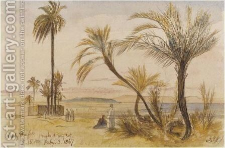 Wady Halfen, Egypt by Edward Lear - Reproduction Oil Painting