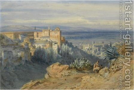 Alhambra, Spain by Carl Friedrich H. Werner - Reproduction Oil Painting