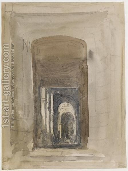Study For The Door Of The Church Of Saint-Roch, Paris by David Cox - Reproduction Oil Painting