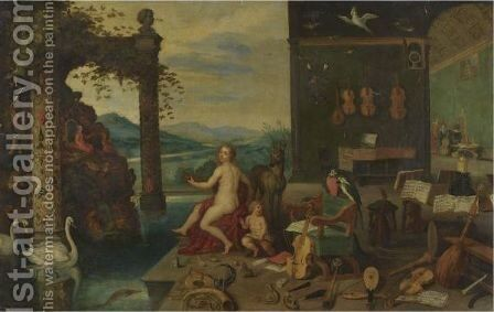 An Allegory Of The Sense Of Hearing by Jan, the Younger Brueghel - Reproduction Oil Painting
