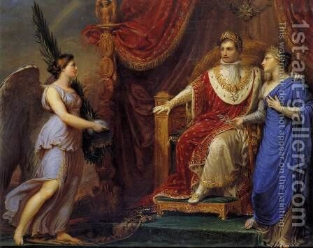 Allegory On The Peace Of Pressburg 1808 by Andrea, the Elder Appiani - Reproduction Oil Painting
