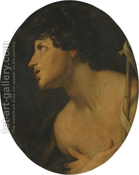 St John The Baptist by (after) Guido Reni - Reproduction Oil Painting