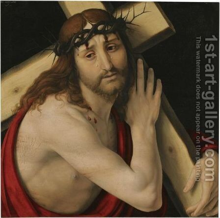 Christ Carrying The Cross 2 by Andrea Solario - Reproduction Oil Painting