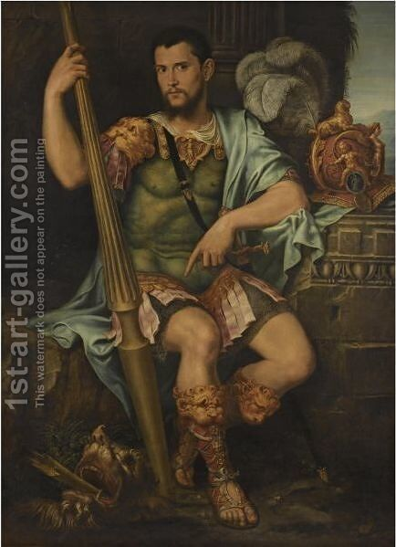 Portrait Of A Nobleman, Presumed To Be Jean De Dinteville, As St George by (after) Francesco Primaticcio - Reproduction Oil Painting