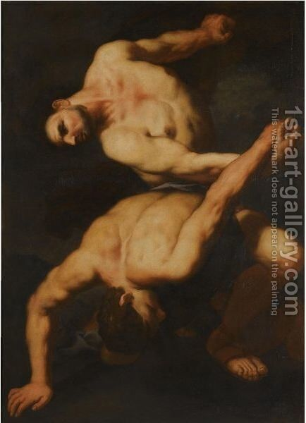 Hercules And Cacus by Antonio Zanchi - Reproduction Oil Painting