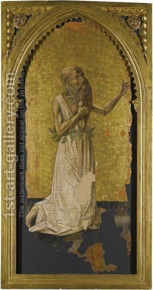 The Penitent Saint Jerome 2 by Neapolitan School - Reproduction Oil Painting