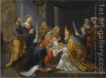 The Circumcision by Antwerp School - Reproduction Oil Painting
