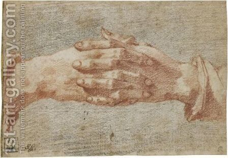 Study Of Clasped Hands by Andrea Boscoli - Reproduction Oil Painting