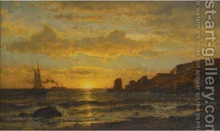 Sunset Along The Coast by Mauritz F. H. de Haas - Reproduction Oil Painting