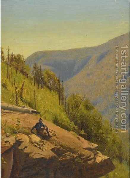 Summer In The Hills  Two Paintings by Jervis McEntee - Reproduction Oil Painting