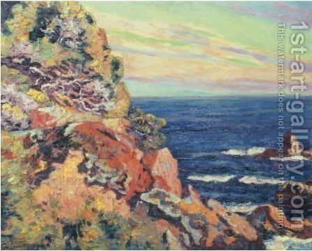 Les Baumettes A Agay by Armand Guillaumin - Reproduction Oil Painting
