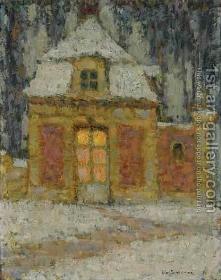 Neige, Versailles by Henri Eugene Augustin Le Sidaner - Reproduction Oil Painting