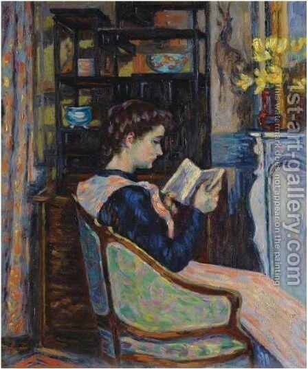 Mademoiselle Guillaumin Lisant by Armand Guillaumin - Reproduction Oil Painting