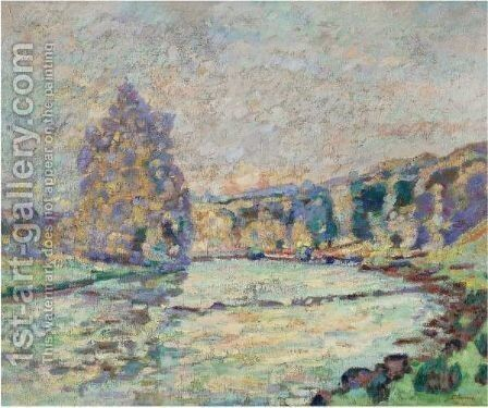 La Creuse A Genetin by Armand Guillaumin - Reproduction Oil Painting