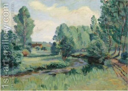 Jouy, Ile De France by Armand Guillaumin - Reproduction Oil Painting