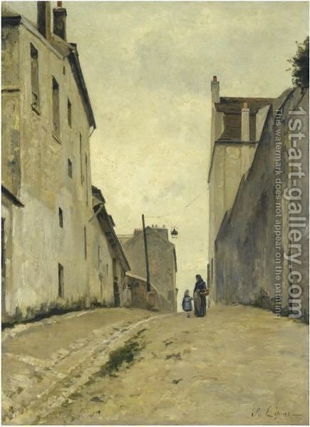 Montmartre. La Rue Du Mont-Cenis by Stanislas Lepine - Reproduction Oil Painting