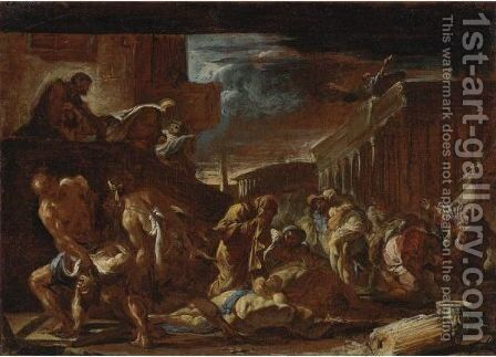 Plague Of Athens by Neapolitan School - Reproduction Oil Painting