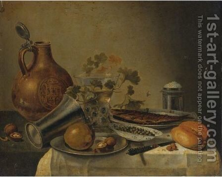 Still Life With A Bowl Of Capers by (after) Pieter Claesz - Reproduction Oil Painting