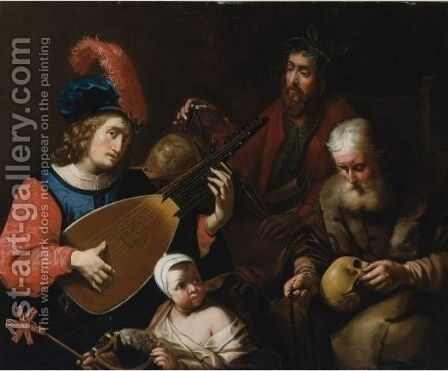 The Four Ages Of Man by (after) Gysbert Van De Kuyl - Reproduction Oil Painting