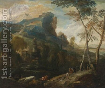 Landscape by (after) Aelbert Meyeringh - Reproduction Oil Painting