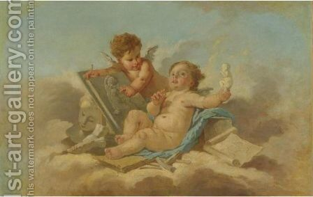 Allegory Of Sculpture by (after) Francois Boucher - Reproduction Oil Painting