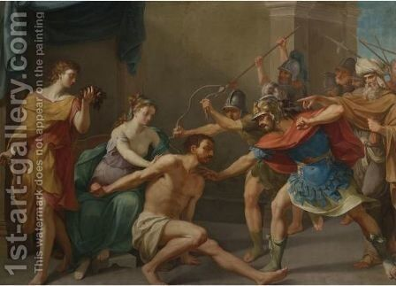 The Capture Of Samson by (after) Nicolas-Andre Monsiau - Reproduction Oil Painting