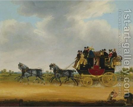 The London - Cirencester Royal Mail Coach by James Pollard - Reproduction Oil Painting