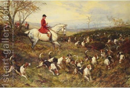 Master Of The Hounds by Heywood Hardy - Reproduction Oil Painting