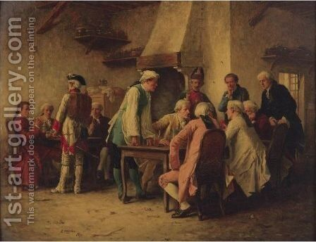 Matters Of Import by Benjamin Eugene Fichel - Reproduction Oil Painting