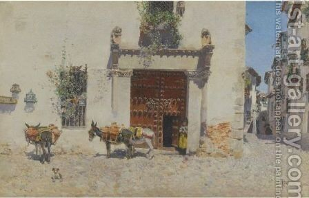 Waiting by Martin Rico y Ortega - Reproduction Oil Painting