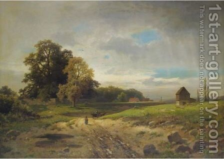 After The Storm by Adolf Chwala - Reproduction Oil Painting