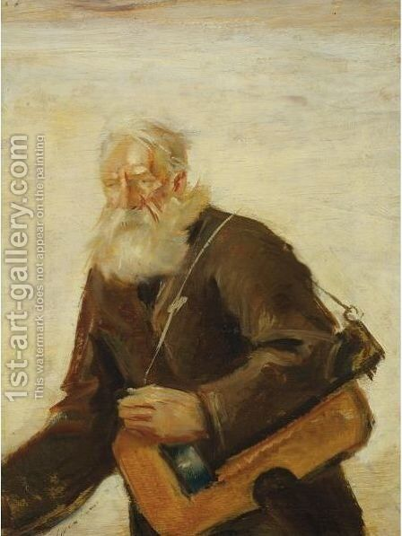 Lirnik (Old Musician) by Teodor Axentowicz - Reproduction Oil Painting