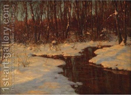 Derniers Rayons Du Soleil (Novembre - Russie) by Ivan Fedorovich Choultse - Reproduction Oil Painting