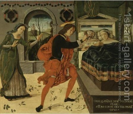 Saint Julian The Hospitaller, Believing To Surprise His Wife And A Lover, Kills His Parents by Antonio Della Corna - Reproduction Oil Painting