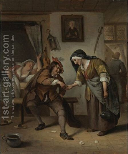 The Procuress by Jan Havicksz. Steen - Reproduction Oil Painting