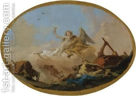 Time Discovering Truth by Giovanni Battista Tiepolo - Reproduction Oil Painting