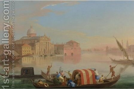 View Of San Giorgio Maggiore, Venice 2 by Johann Richter - Reproduction Oil Painting