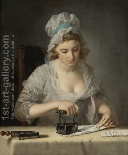 The Laundry Maid by Henry Robert Morland - Reproduction Oil Painting