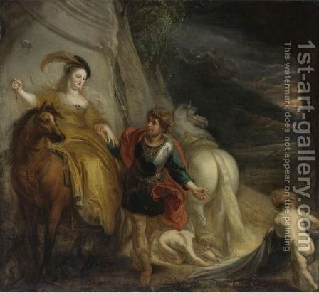Dido And Aeneas 2 by Theodor Van Thulden - Reproduction Oil Painting