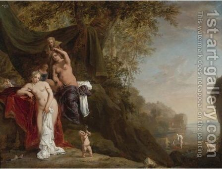 Nymphs Bathing by Bartholomeus Breenbergh - Reproduction Oil Painting