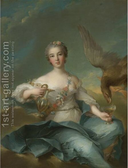 The Duchesse De Chartres As Hebe by Jean-Marc Nattier - Reproduction Oil Painting